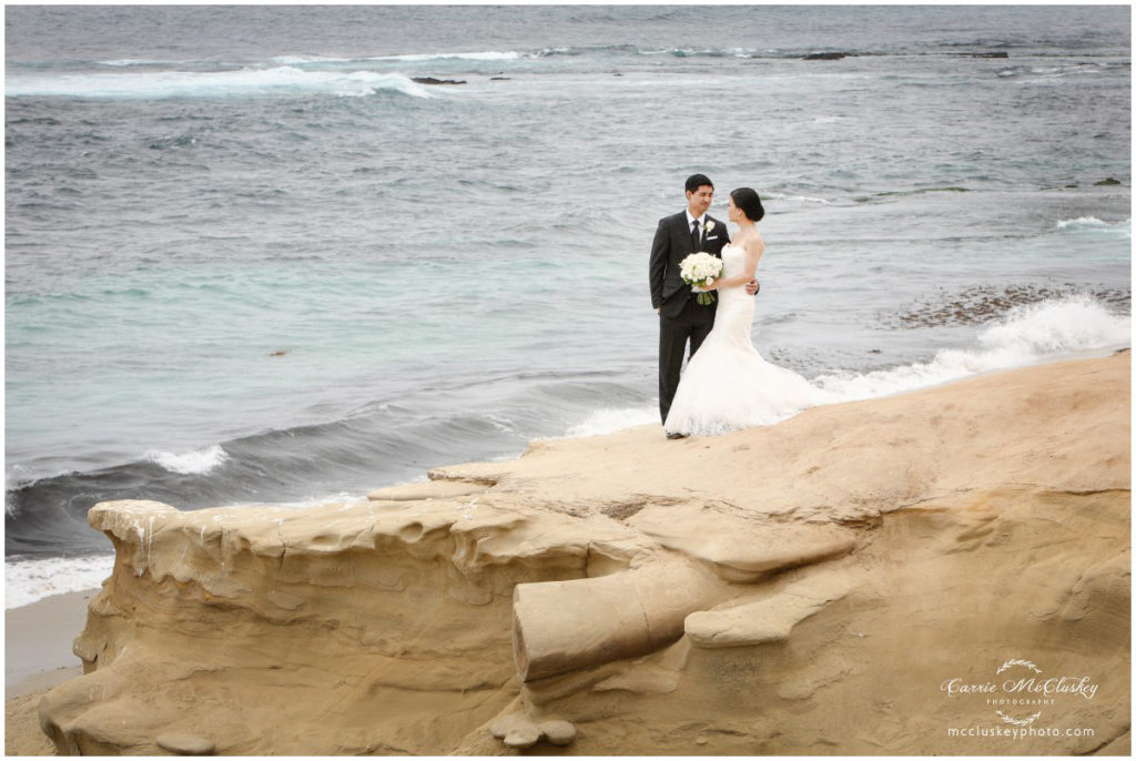 Bride and Groom in La Jolla for some couple shots.