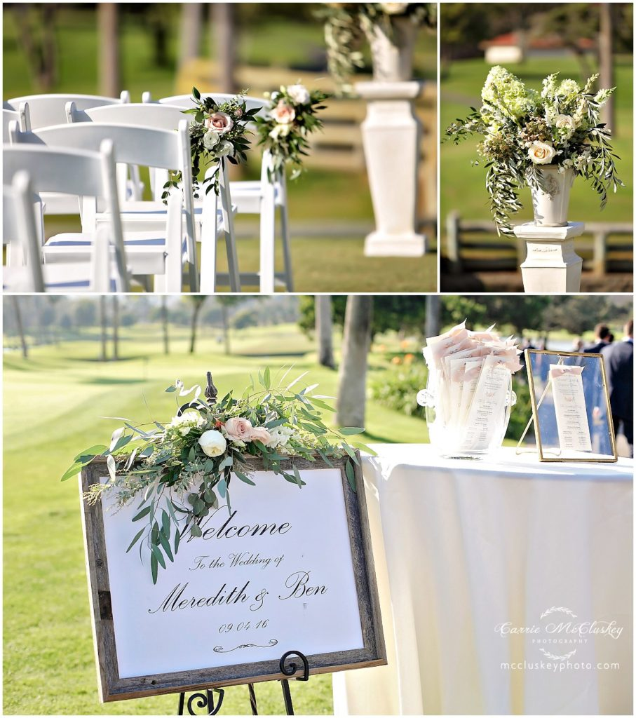 Fairbanks Ranch Country Club Wedding details