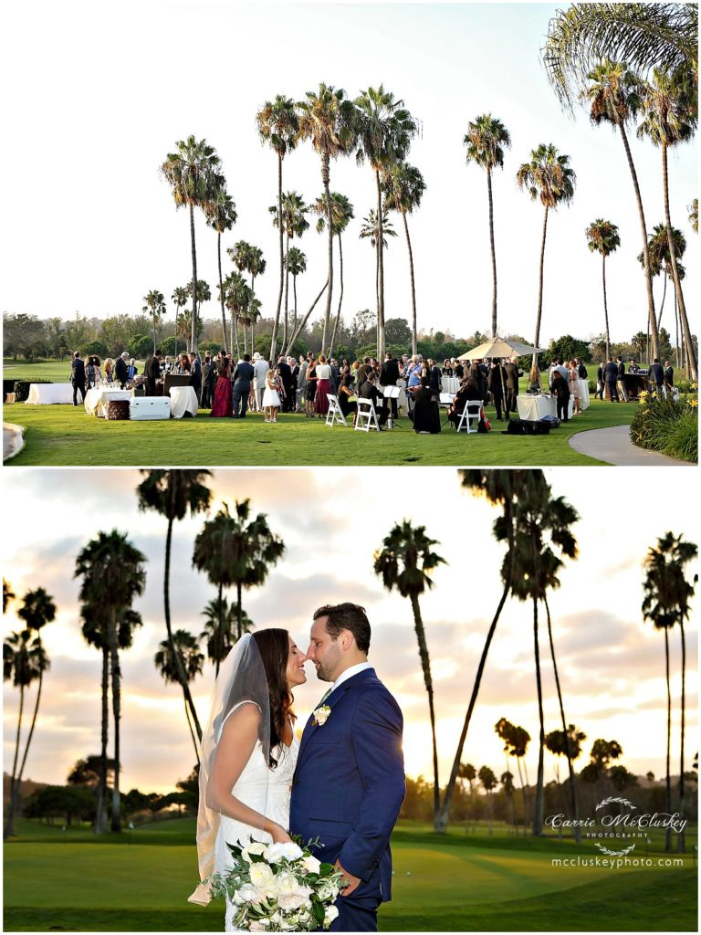 Fairbanks Ranch Country Club Wedding Sunset